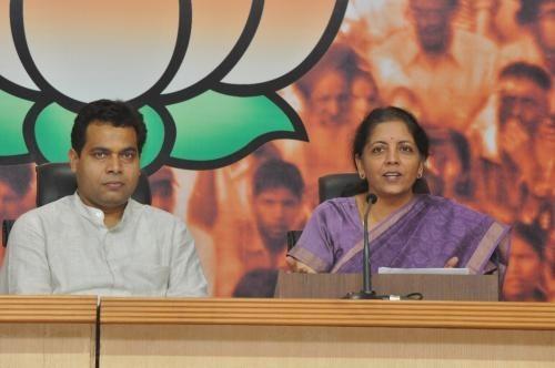 BJP National Spokesperson, Smt. Nirmala Sitharaman addressing a press conference last year