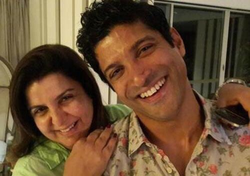 Farhan Akhtar and Farah Khan