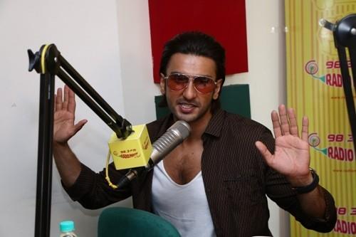 Ranveer Singh at Radio Mirchi Mumbai