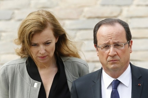 First lady Valérie Trierweiler with the President (Reuters)