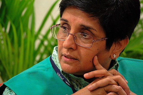 Did Puducherry Congress depict Kiran Bedi as Adolf Hitler?