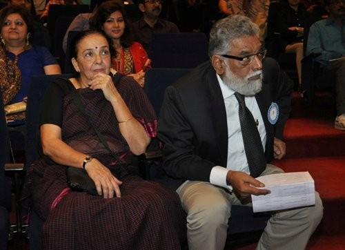 John's parents at NGO event (Varinder Chawla)