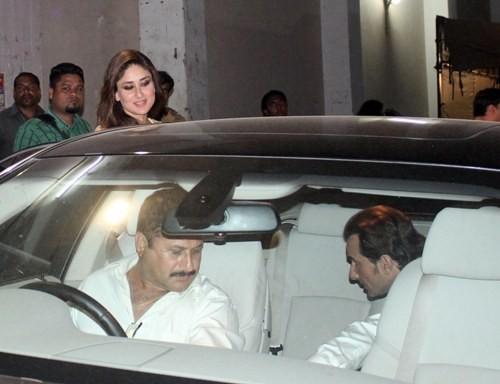 kareena Kapoor and Saif Ali Khan at Mehboob Studio