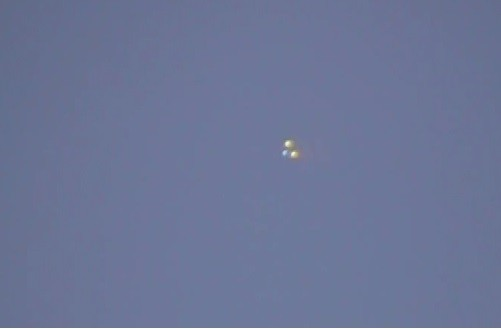 UFO Sighting: Three Orbs Spotted Over Sherman Oaks, California (You Tube Screen Shot/YodaVon .VaderWalker)