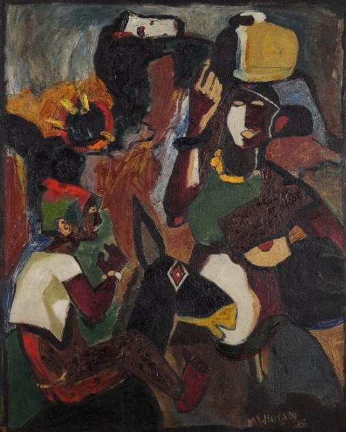 Mf husain,Maqbool Fida Husain,google doodle,picasso of india,100th birthday,centenary birthday,mf husain paintings
