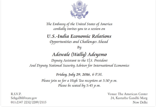 us india invite lecture adewale wally american embassy