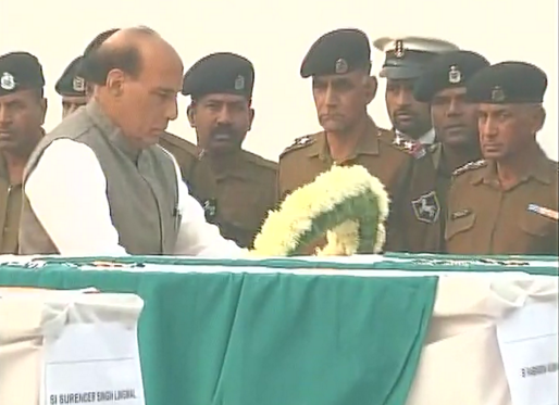Rajnath Singh,BSF plane crash,BSF plane crashes in Delhi,Home Minister Rajnath Singh,Rajnath Singh pays tribute to BSF plane crash