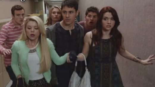 Felix, Lauren, Shane, Karma, Liam and Amy from season 2B episode 15 of 'Faking It'