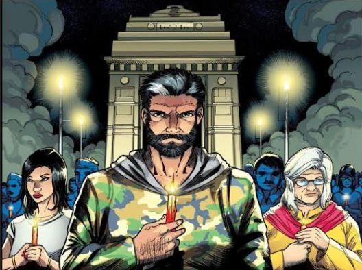 Rakshak in a Indian comic book series