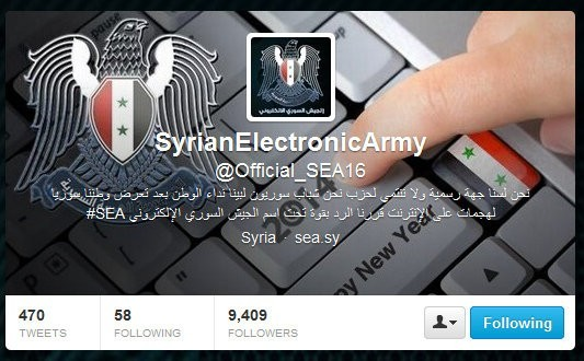 Syrian Electronic Army's Twitter Page