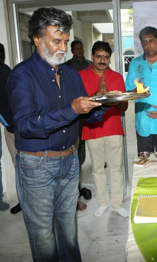 Kabali,Superstar Rajinikanth's Kabali Movie Launch,Kabali Movie Launch,Superstar Rajinikanth,Rajinikanth,Kabali Movie pooja,kabali