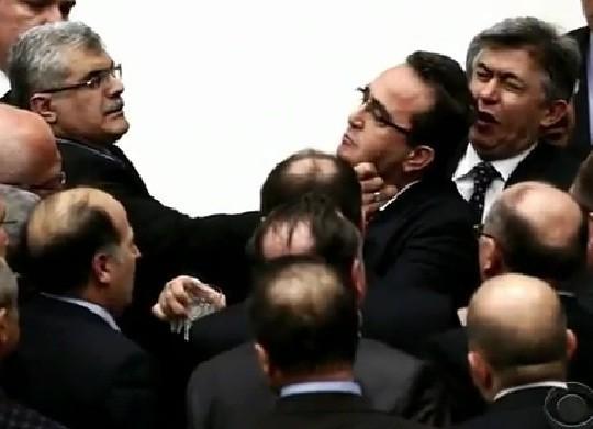 Turkish MPs brawl in Parliament/Videograb