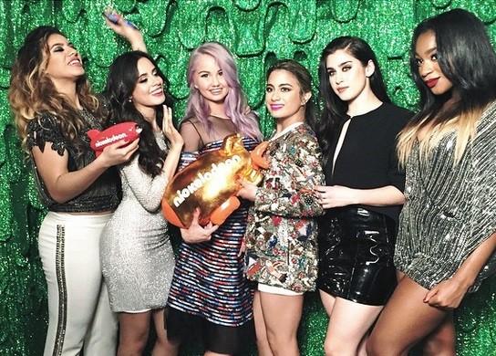 Debby Ryan with Fifth Harmony