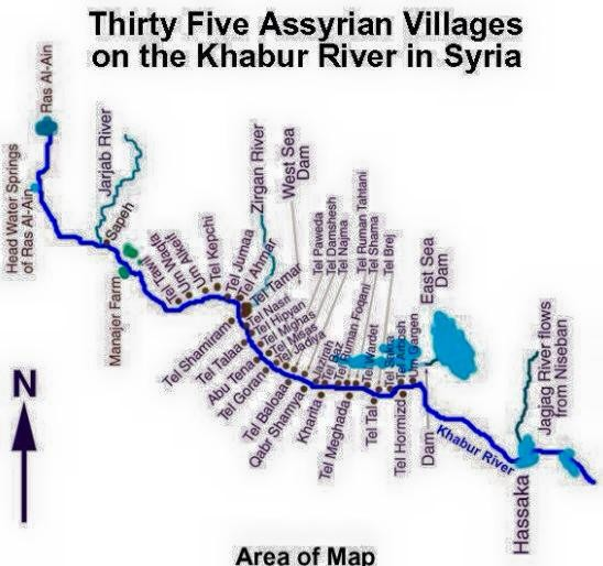 A map of the predominantly-Kurdish city of al-Hasaka,which has been under attack by Isis since Tuesday.