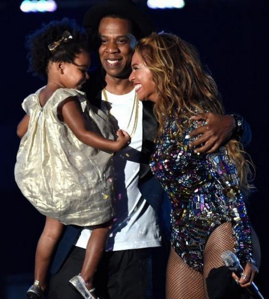 Jay Z and Beyonce with Blue Ivy