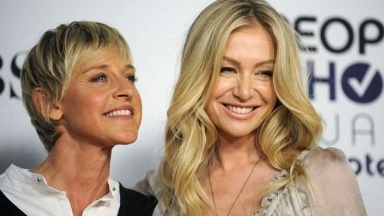Ellen DeGeneres with Portia De Rossi