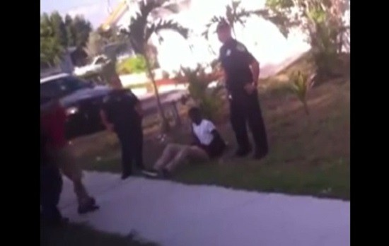 The sixth grader was handcuffed, choked and kicked by the officer.