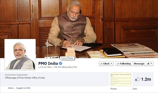 PMO India Facebook page