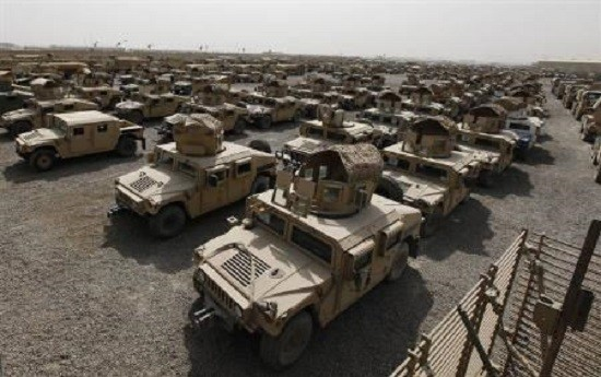 Dozens of US Humvees captured by ISIS are being sent to Syria