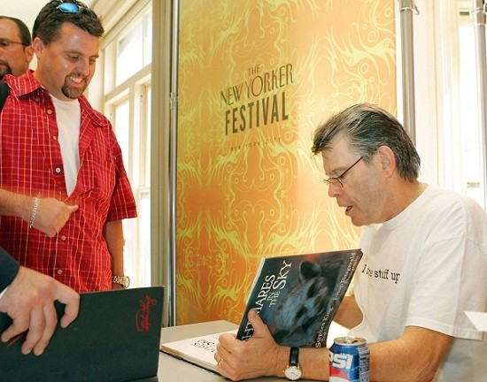 American Author Stephen King Signing copies in a file picture/Reuters
