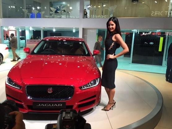 Katrina Kaif,Katrina Kaif launches Jaguar XE,Jaguar XE,Jaguar XE India,actress Katrina Kaif,bollywood actress Katrina Kaif,2016 Auto Expo,Auto Expo,Auto Expo 2016,Delhi Auto Expo 2016