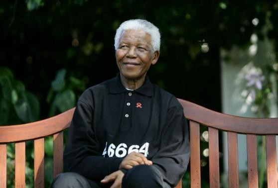 Nelson Mandela whose face is often confused with that of actor Morgan Freeman