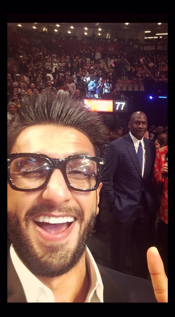 Ranveer Singh,Ranveer Singh meets Ludacris,Ranveer Singh celebrates Valentine's Day,Ranveer Singh meets Ludacris at NBA All-Star game,Ranveer meets Ludacris,NBA All-Star game,Ranveer Singh at NBA All-Star game,actor Ranveer Singh,Ranveer Singh new pi
