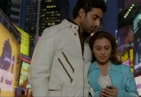 Abhishek Bachchan, Rani Mukerji in 'Kabhi Alvida Naa Kehna'
