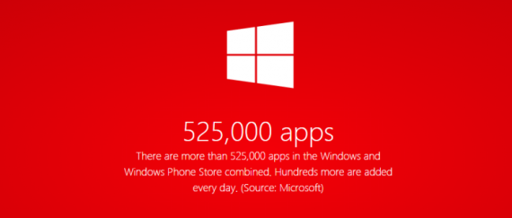 Microsoft Celebrates Over 525K Apps On Windows and Windows Phone Store