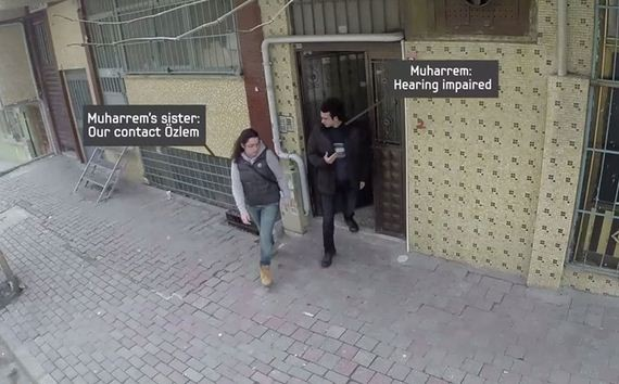 Deaf and dumb man surprised by neighbours in Turkey