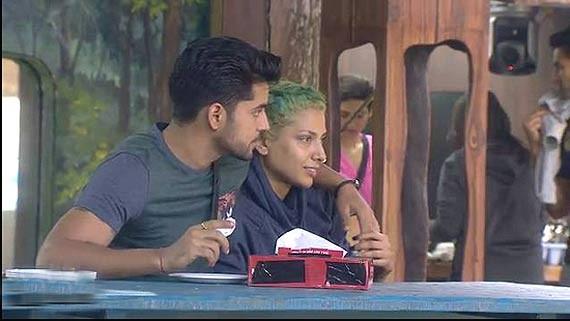 Gautam Gulati and Diandra Soares In Bigg Boss house