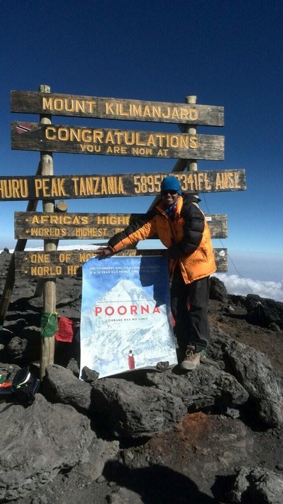 Poorna,Poorna first look,Poorna poster,Poorna unveiled on Mount Kilimanjaro,Mount Kilimanjaro,Bollywood movie Poorna