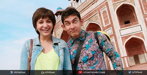Aamir Khan, Anushka Sharma in PK