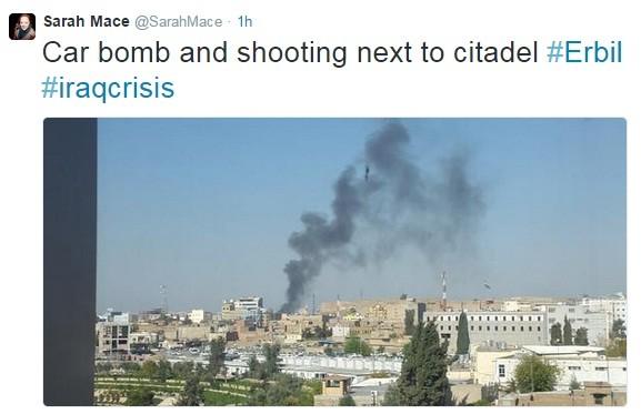 A car bomb targeting a government building has rocked the Iraqi Kurdish Capital, Irbil according to local media.