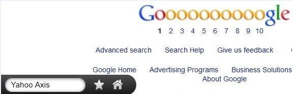Yahoo Axis toolbar