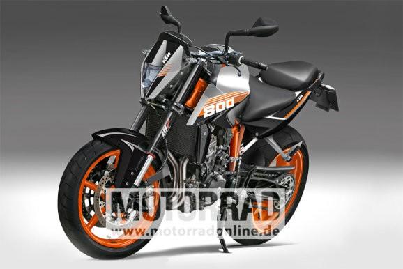 KTM Duke 800 rendering
