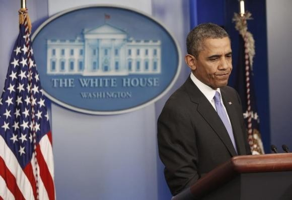 U.S. President Barack Obama holds his year-end news conference
