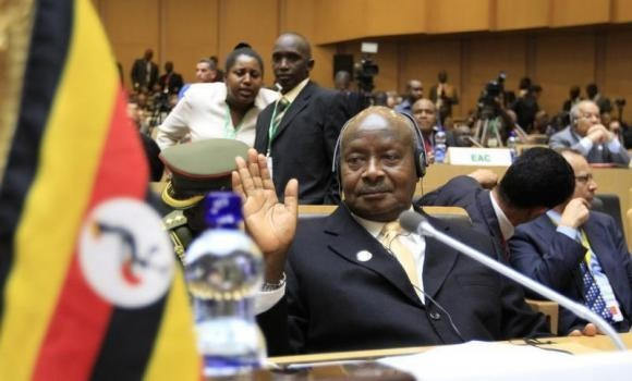 Uganda's President Yoweri Museveni attends the opening ceremony of the 22nd Ordinary Session of the African Union summit in Ethiopia's capital Addis Ababa, January 30, 2014 file photo.