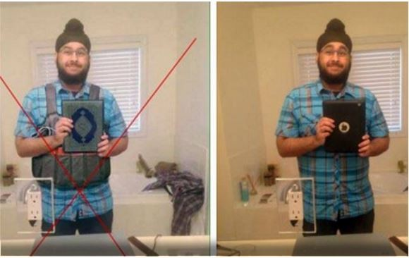 Sikh man photoshopped image
