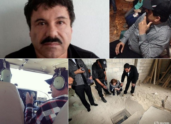 Photos released of El Chapo Guzman show him drinking beer, flying helicopter