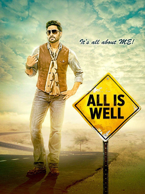 All is Well First Look,All is Well First Look poster,All is Well First Look Revealed,Abhishek Bachchan and Asin,Abhishek Bachchan,Asin,Abhishek Bachchan and Asin in All is Well,All is Well poster,All is Well movie stills,All is Well movie pics
