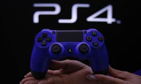 A photo of a PlayStation 4 controller