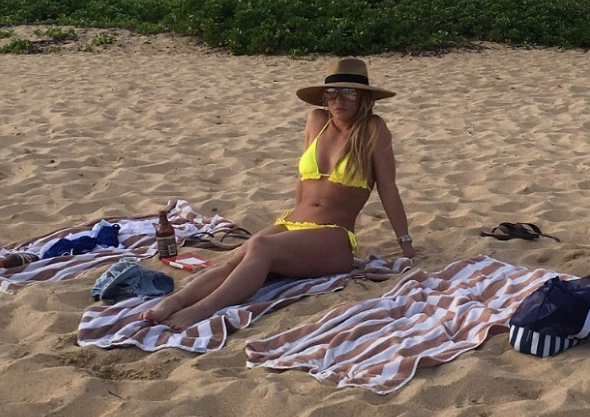 Britney Spears Hits the Beach in a Bikini