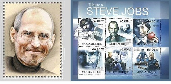 Hungary and Mozambique already have issued Steve Jobs stamps