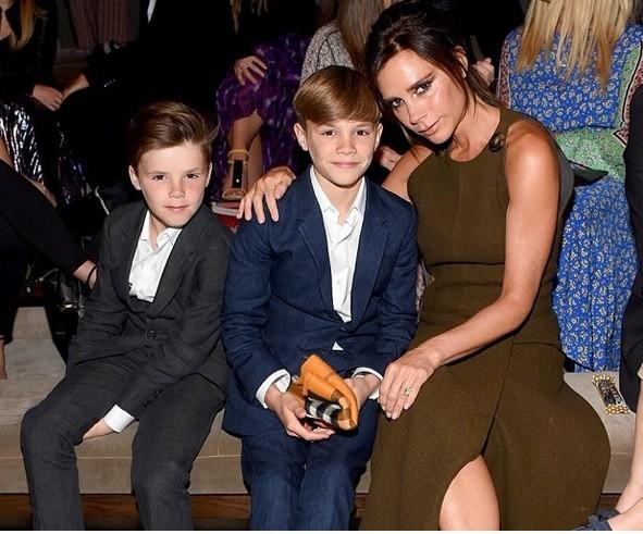 Victoria Beckam with sons Romeo James Beckam and Cruz David beckam