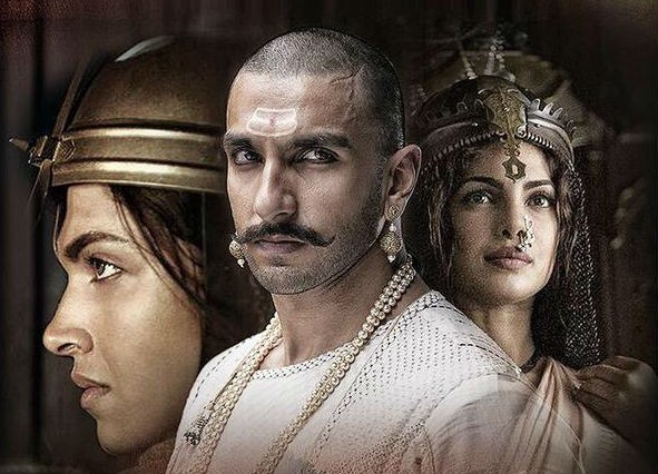 "A TV show based on ""Bajirao Mastani""? Pictured: Ranveer Singh, Deepika Padukone and Priyanka Chopra in ""Bajirao Mastani"" poster"