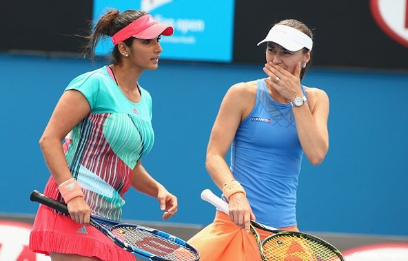 Sania Mirza,women's and mixed doubles matches,Australian Open,Australian Open 2016,2016 australian open,Sania Mirza at Australian Open,Martina Hingis,Martina Hingis and Sania Mirza,Sania Mirza and Martina Hingis