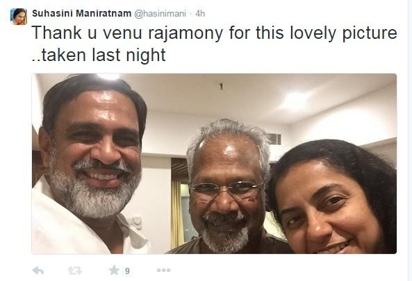 Suhasini Maniratnam with Mani Ratnam