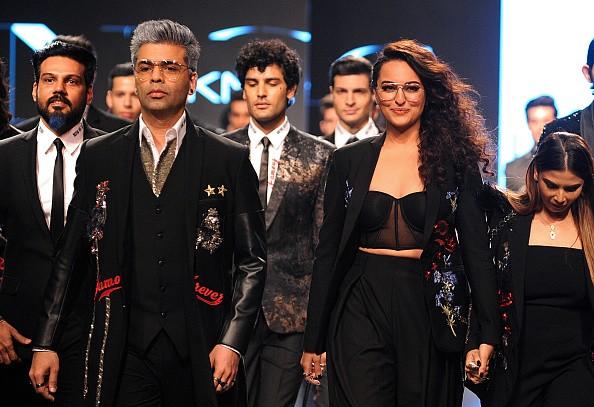 Lakme Fashion Week 2018,lakme fashion week,Karan Johar and Sonakshi Sinha,Karan Johar,Sonakshi Sinha,Falguni and Shane Peacock