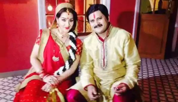 "Shilpa Shinde files police complaint against industry bodies. Pictured: Shilpa Shinde and Rohitashv Gour in ""Bhabi Ji Ghar Par Hai!"""